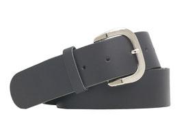 Echtledergürtel 4cm breit schwarz