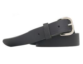 Echt Ledergürtel Made in Germany Leder Gürtel schwarz glatt 3cm breit und verschiedenen Längen