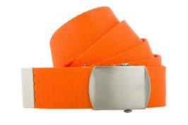 Orange Bandgürtel 4cm Längen 80cm bis 200cm