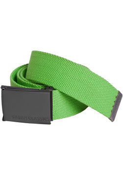 Urban Classics Stoffgürtel Canvas Belt limegreen
