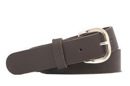 Herren Echt Ledergürtel Made in Germany Leder Gürtel braun 3cm breit und verschiedenen Längen