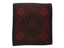 Mundschutz 3er Pack Bandana Tücher Halstuch Kopftuch 100% Baumwolle schwarz-rot