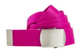 Damen Stoffgürtel neon pink 2,8cm breit