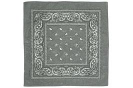 Mundschutz 10er Pack Bandana Tücher Halstuch Kopftuch 100% Baumwolle grau