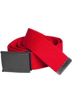 Urban Classics Stoffgürtel Canvas Belt rot