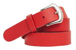 Echt Ledergürtel Made in Germany Leder Gürtel 3cm breit rot glatt