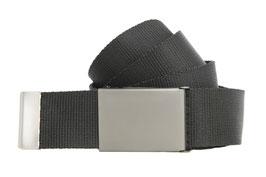 Militärgürtel 4cm Schwarz Matt Längen 100cm bis 180cm