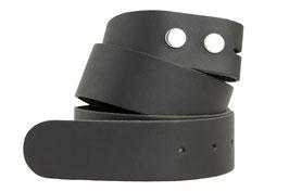 Wechselgürtel aus Echtleder ohne Schnalle 4cm breit schwarz