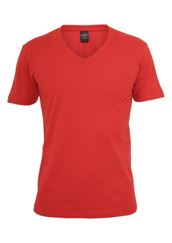 Urban Classics V-Neck Shirt rot