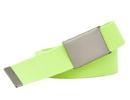 XXL Stoffgürtel 140cm Gesamtlänge 4cm breit starke Schnalle neon-grün