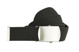 Schwarzer Bandgürtel 4cm Längen 80cm bis 200cm