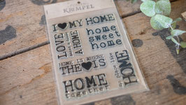"""Home"" Silikonstempel"