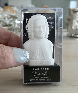 """Der Johann Sebastian Bach Radierer / Radiergummi ist gleichzeitig auch die """"allerkleinste"""" Bach-Büste"""