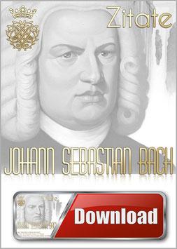 Bach-Zitate-Medley und Mini Biografie mit Musik von Johann Sebastian Bach