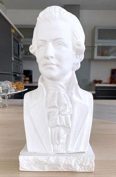 Wolfgang Amadeus Mozart Bach Büste aus Alabaster-Modellgips + 8 kostenlose Zugaben**