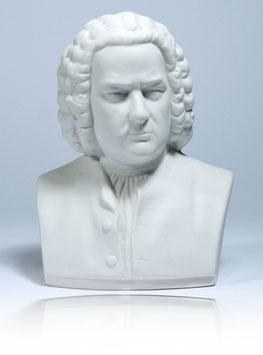 Johann Sebastian Bach Büste aus Biskuit-Porzellan + 2 kostenlose Bach-Zugaben**
