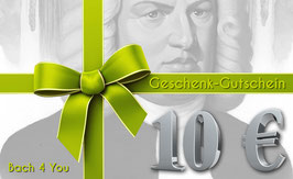 Bach-Geschenkgutschein 10,00 €