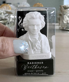 """Der Ludwig van Beethoven Radierer / Radiergummi ist gleichzeitig auch die """"allerkleinste"""" Beethoven-Büste"""