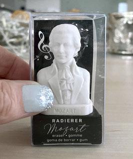 """Der Wolfgang Amadeus Mozart Radierer / Radiergummi ist gleichzeitig auch die """"allerkleinste"""" Mozart-Büste"""