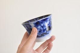 銅版手/ブルーウィロー汲み出し茶碗5客セット