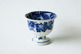 ベロ藍/花文盃洗