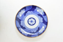 銅版手/牡丹文イゲ八寸皿