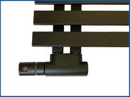 MILANO Multiblock Anschlussarmatur Set Messing vernickelt mit Thermostatkopf und Abdeckung