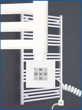Elektro Handtuchwärmer MORA Weiß rein elektrisch mit KTX 2 Heizelement