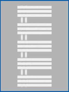 Designbadheizkörper VERONA Weiß