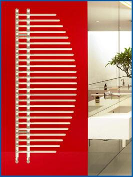 Designbadheizkörper BONITA  1400 x 600 mm. Weiß inkl. Chrom Ventil