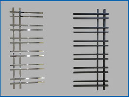 Designbadheizkörper VENTO Anthrazit Schwarz oder Chrom 1200 x 550 mm.