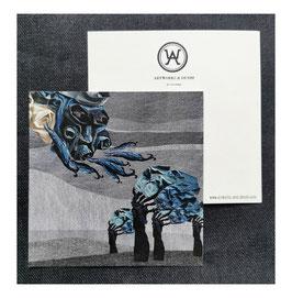 "Postcard ""Denim Trees"""
