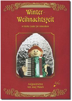 Winter-Weihnachtszeit - Akkordeonheft für Anfänger
