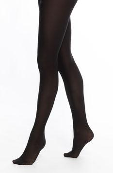 Strumpfhose mit Fuß in schwarz