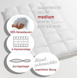 Daunendecke Premium medium