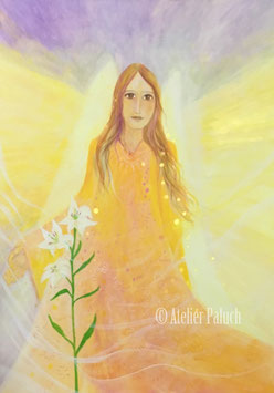 """""""Engel mit weißer Lilie"""" Original"""