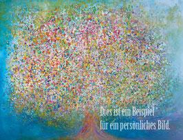 Persönlicher Lebensbaum - Acryl auf Leinwand