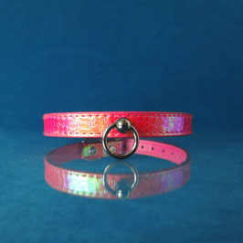 HolO - Pink / Orange Hologram Choker