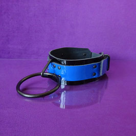 JumbO - Black / Blue Leather Collar
