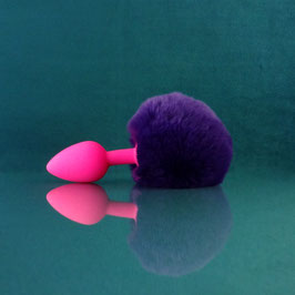 ButtBunny - Purple Tail - Silicone Plug