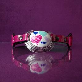 Glitter Love - Pink Glitter Pacifier Gag