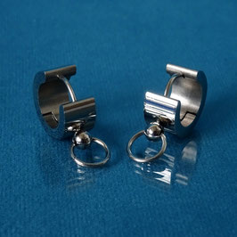 SteelStealth - Silver Steel Earrings