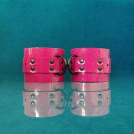 Candy Cuffs - Pink Glitter