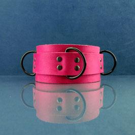 Candy Collar - Pink D-Ring Collar