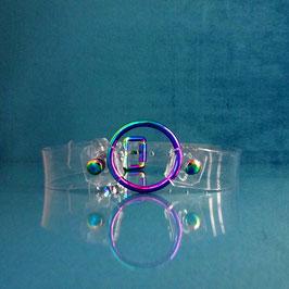 Rainbow Ray - Clear PVC Choker