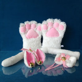Faux Paw - White Kitty Set