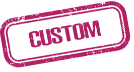 Custom belt - Metallic pink