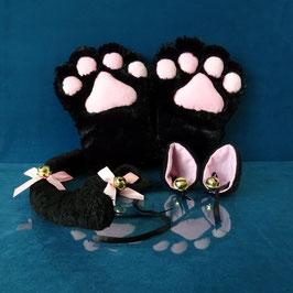 Faux Paw - Black Kitty Set