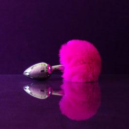 ButtBunny - Dark Pink Tail - Metal Plug