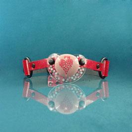Glitter Love - Red Glitter Pacifier Gag